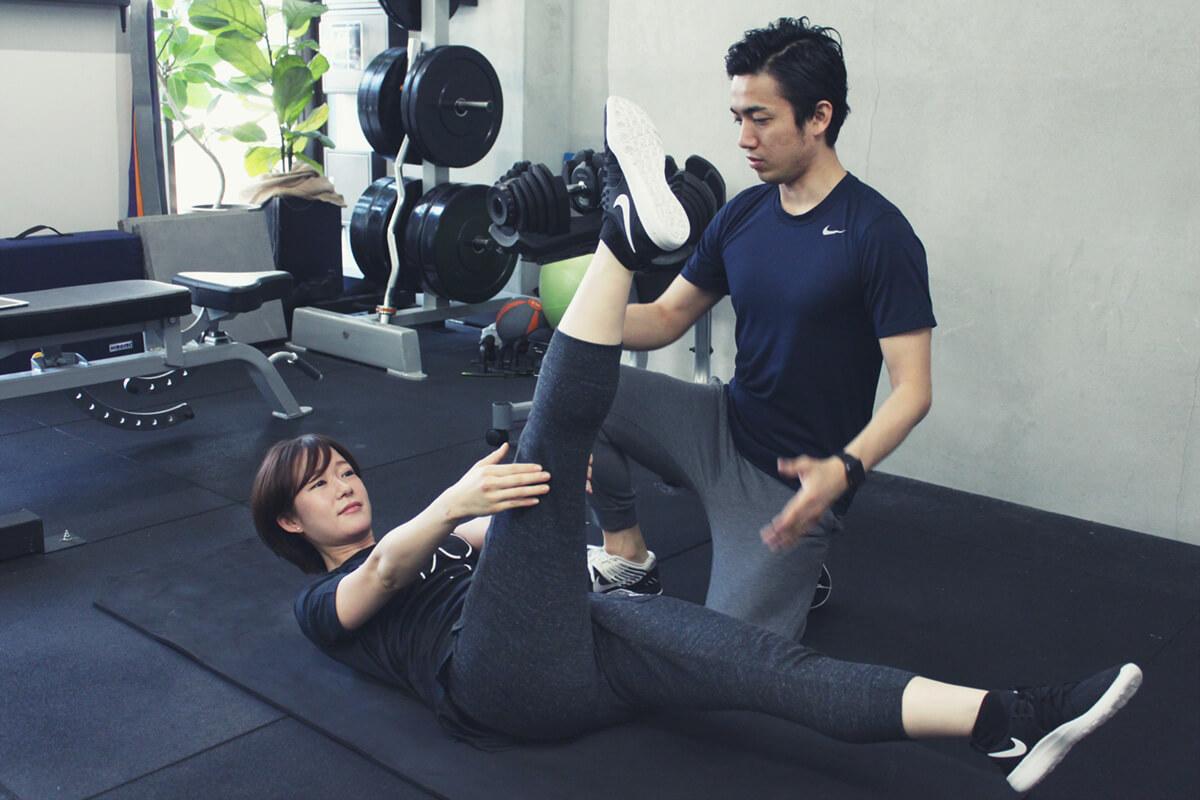 パーソナルトレーニングで体幹トレーニング