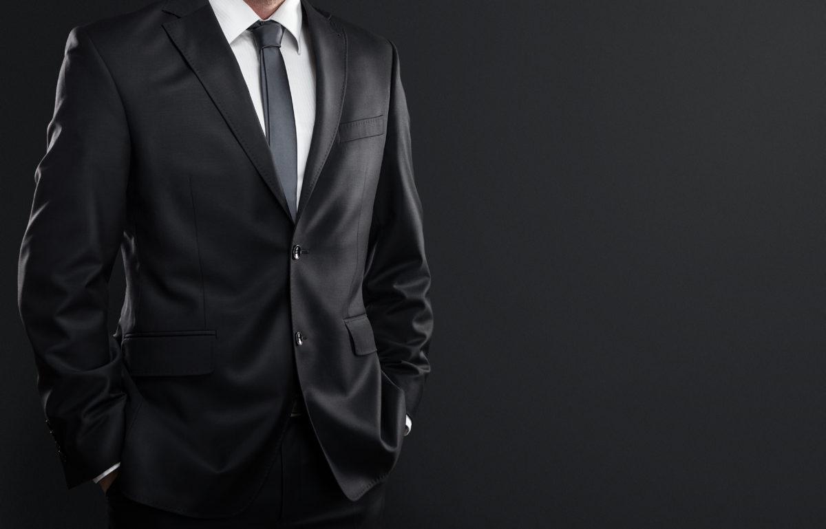 綺麗なスーツ姿